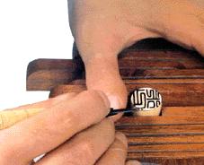 印鑑の彫刻写真 印影校正